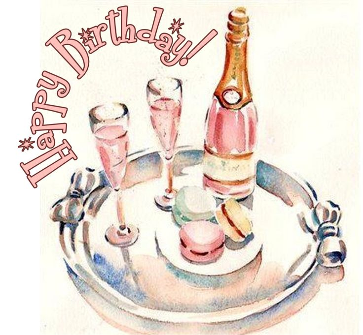 Champagne clipart birthday cake On #champaign Birthday Happy about