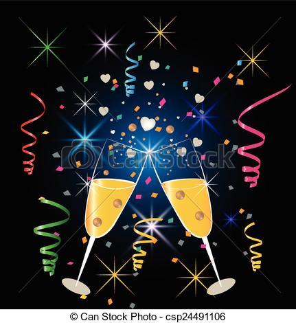 Champagne clipart celebration Clipart celebration of glasses celebration