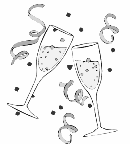 Champagne clipart celebration New Clipart Clipground Cartoon Year