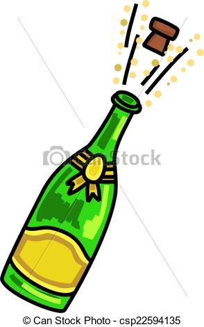 Champagne clipart celebration Popping collection Stock clipart Champagne
