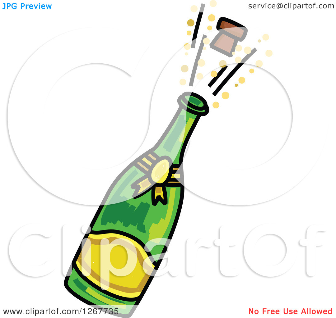 Celebration clipart champagne cork  Bottle Collection Open Champagne