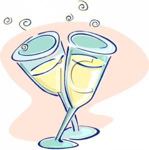 Wine clipart two Clipart Two Champagne Champagne Flutes