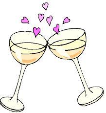 Champagne clipart cheers Taças vinho de Drawing für