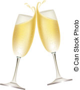 Champagne clipart cheers Of isolated Two Clipart Images