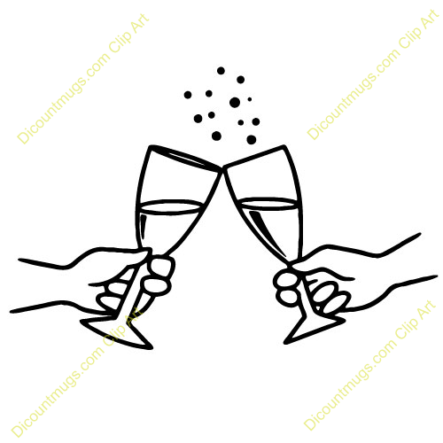 Champagne clipart cheers Art Glasses champagne clip Clipart