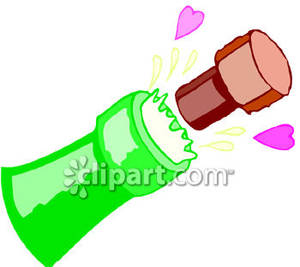 Champagne clipart cork Clipart Clipart Popping free Free