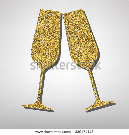 Champagne clipart gold Champagne Champagne Flutes Clipart Gold