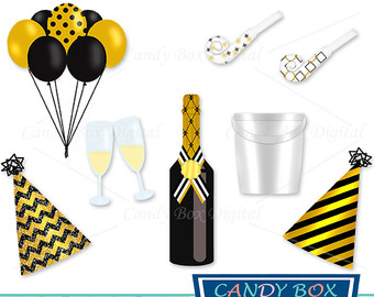 Champagne clipart gold Clipart pictures Etsy clipart Champagne