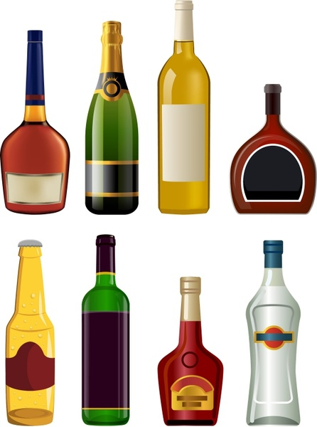 Champagne clipart liquor Download bottles Champagne Free for