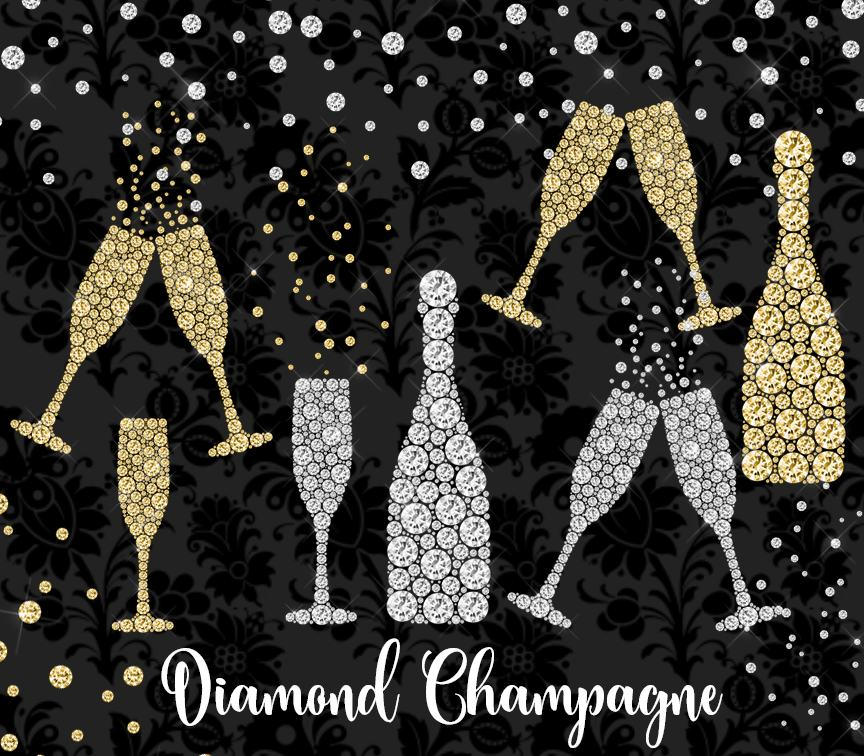 Champagne clipart party Clip year art celebration overlay