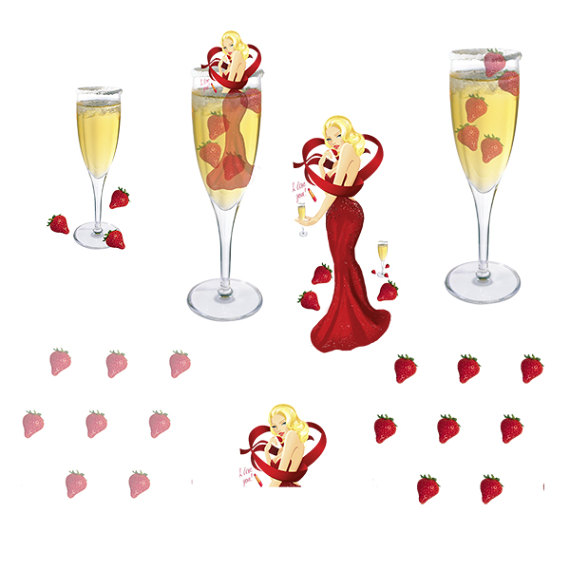 Champagne clipart party Fashion Clipart Girl Party Clipart