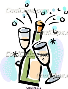 Champagne clipart party Clip Art Champagne