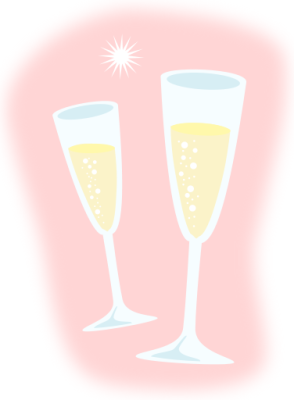 Champagne clipart pink champagne Champagne Print Cartoon Clipart Champagne
