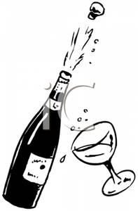 Celebration clipart champagne cork Black Art Print 7193 Champagne