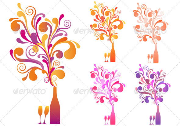Champagne clipart poppin Bottle Bottle Year Champagne amourfou