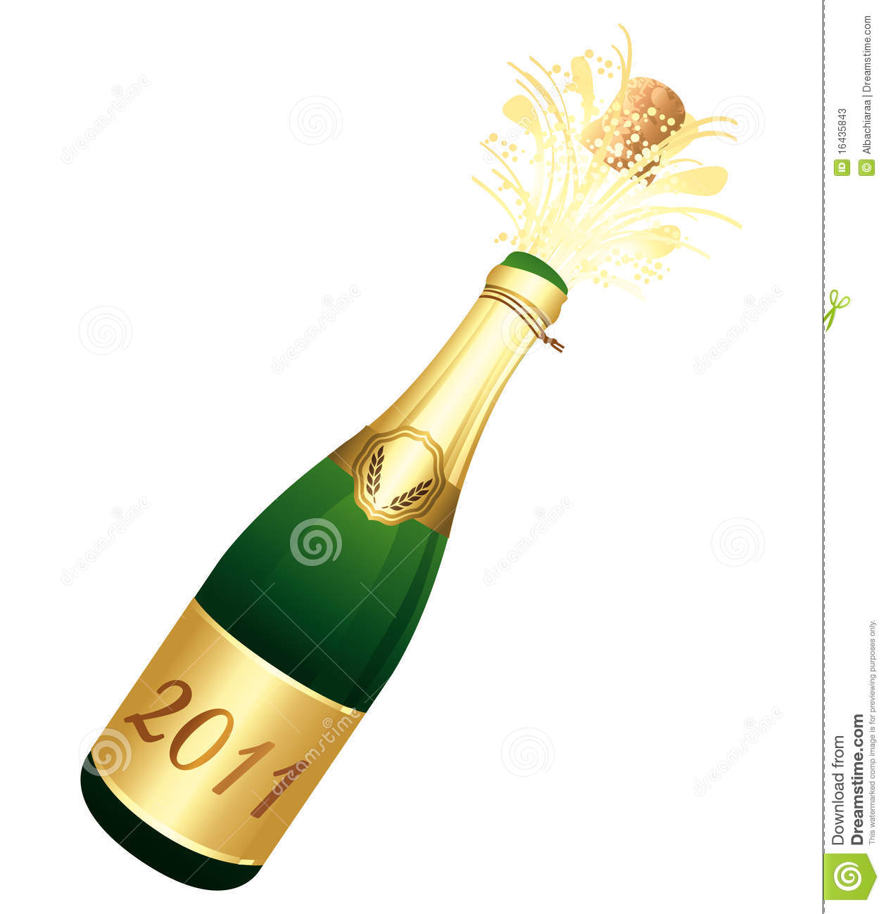 Champagne clipart poppin Champagnefles Champagne 2011 Clipart cps