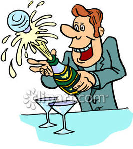Champagne clipart poppin Bottle Clip Champagne Popping art
