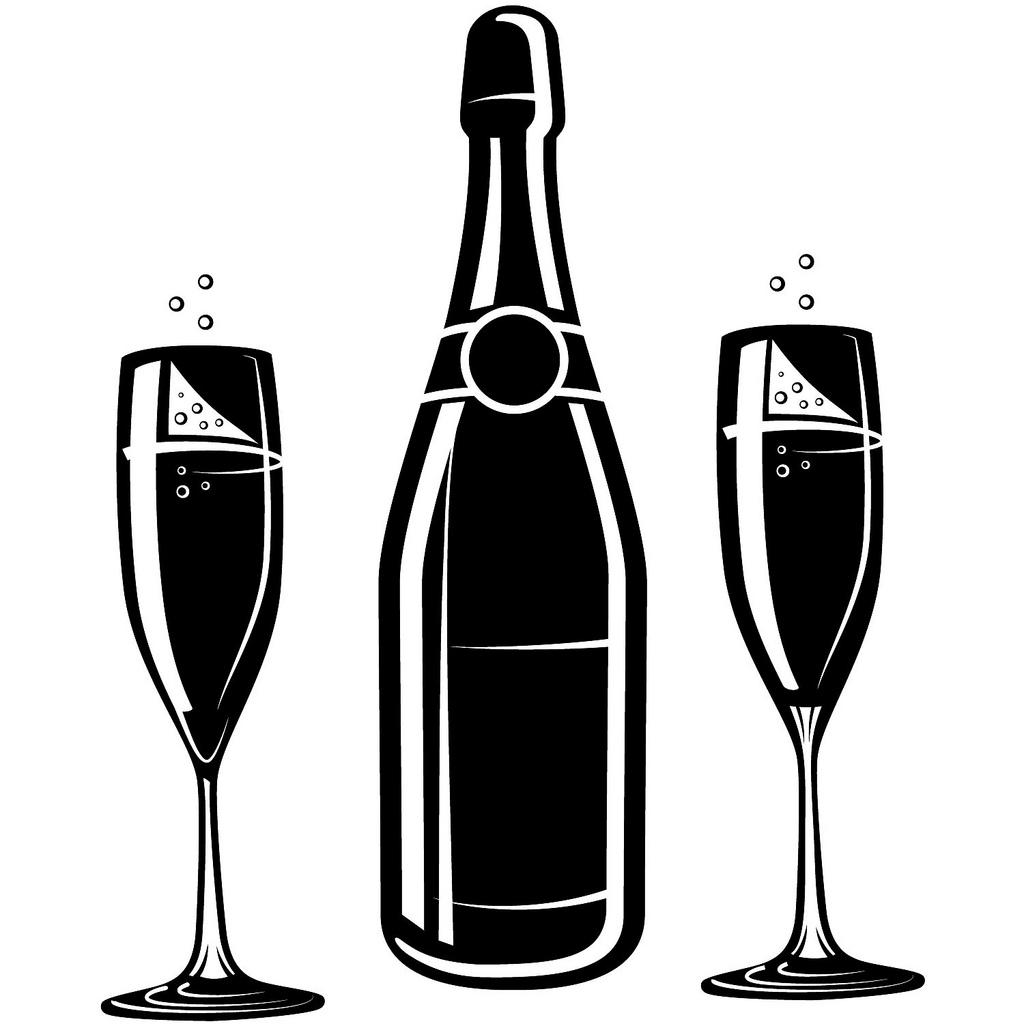 Champagne clipart vector Bottle champagne Google champagne Pinterest