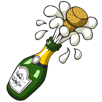 Champagne clipart vector Popping Champagne Bottle Ist clipart