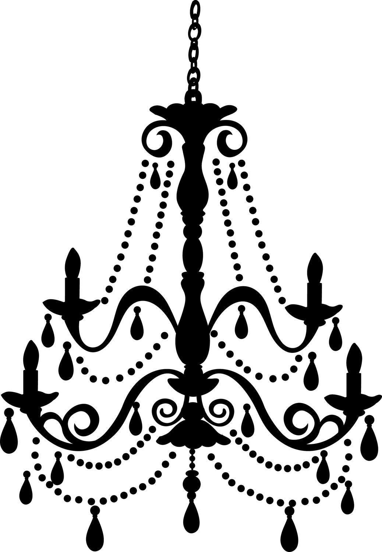 Chandelier clipart ceiling lamp Silhouette Vintage Artfree of Clip