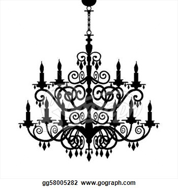 Chandelier clipart art Pink Lovely  Pink