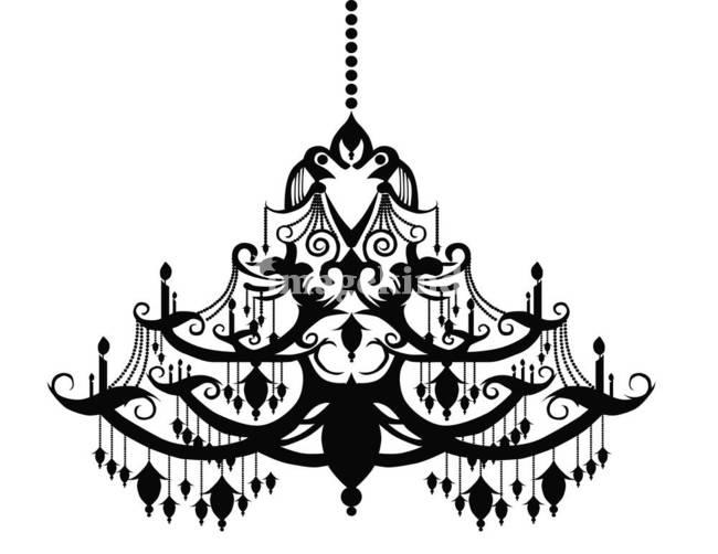 Chandelier clipart art Art 7 chandeliers art Chandelier