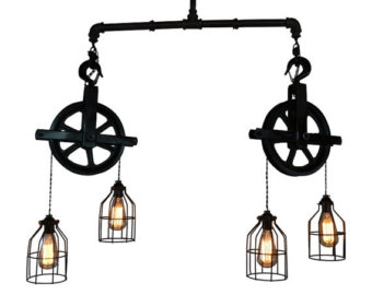 Chandelier clipart ceiling lamp Ceiling lighting Etsy Industrial Island