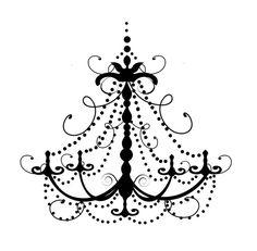 Drawn chandelier fancy chandelier Silhouette Chandelier Chandelier Clip Art
