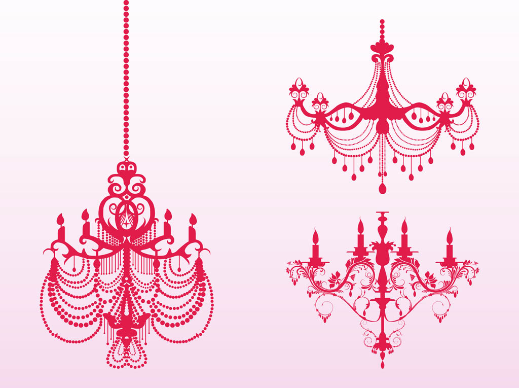 Chandelier clipart easy With Cosy Chandelier Pink Home