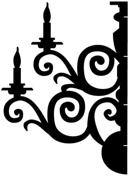 Chandelier clipart easy Decoration  Large Chandelier 1: