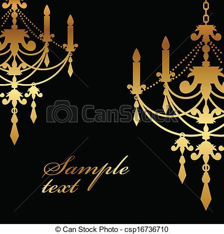 Chandelier clipart gold chandelier  Vector gold background chandelier