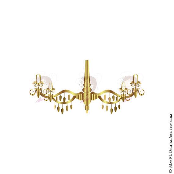 Chandelier clipart gold chandelier By Gold Scrapbooking Ornate Frames