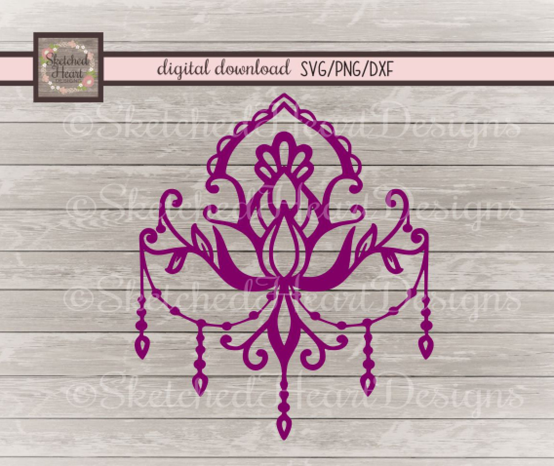 Chandelier clipart hand drawn Dxf digital is SVG file