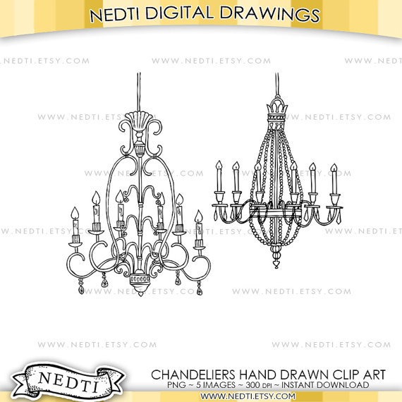 Chandelier clipart hand drawn Clip digital is Hand file