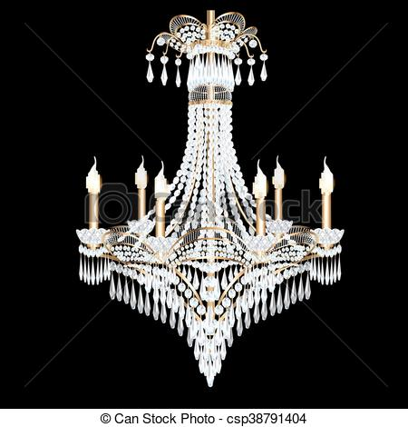 Chandelier clipart modern Of illustration with illustration Clipart