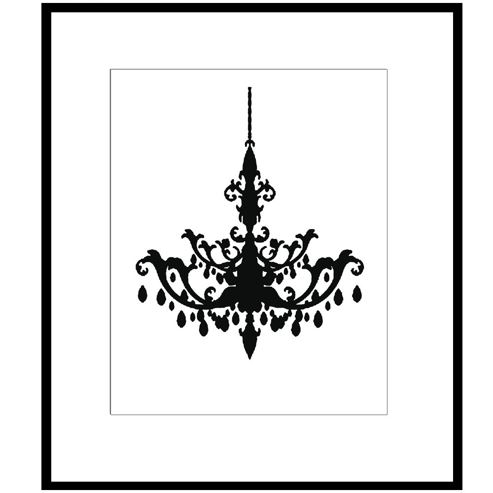 Chandelier clipart modern Of Size Imposing Wall Stencil