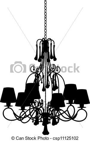 Chandelier clipart modern Of  modern chandelier Silhouette