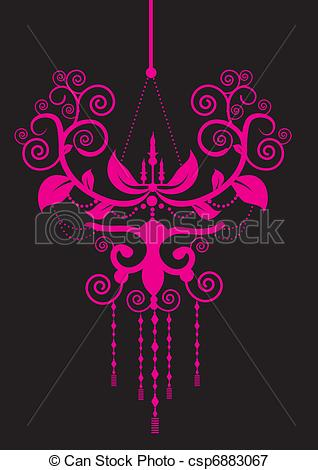 Chandelier clipart pink chandelier Vectors Illustration chandelier of csp6883067