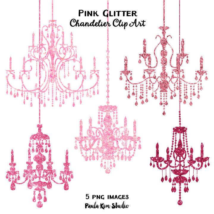 Chandelier clipart pink chandelier Pink Glitter OFF Chandelier Glitter