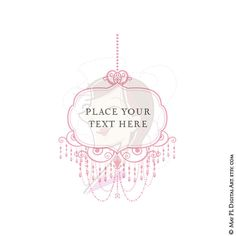Chandelier clipart pink chandelier Retro Ornate with Graphic Pink