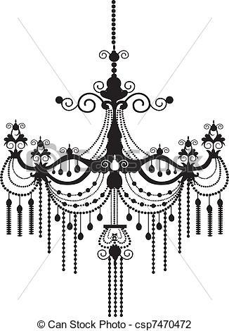 Chandelier clipart vector Vector Illustration *  Chandelier