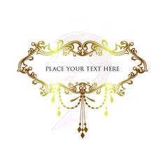 Chandelier clipart victorian frame Gold Vintage Wedding Border Bridal