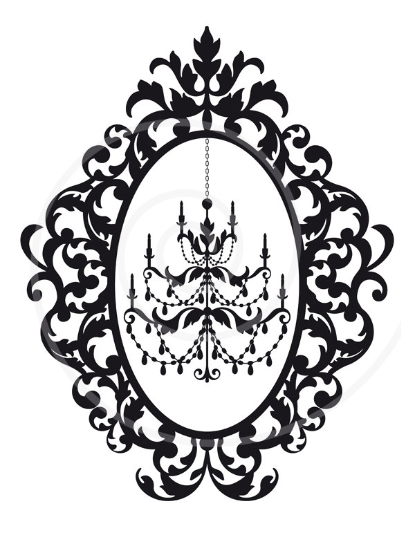 Chandelier clipart vintage frame 20clipart collection art Free Chandelier