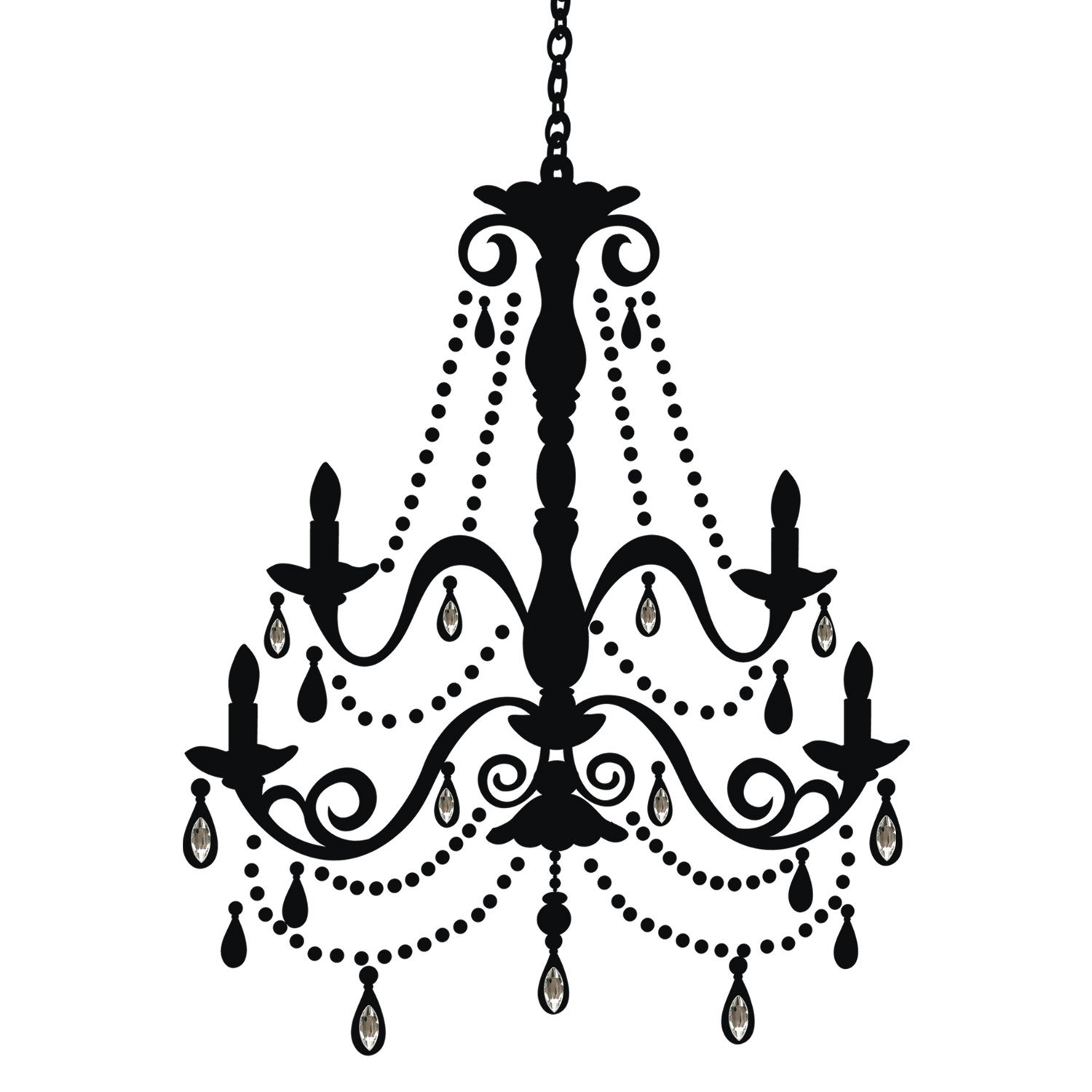 Drawn chandelier wall decal Wall Chandelier Decal(China (Mainland) and