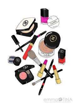 Makeup clipart makeup bag (49+) chanel clipart Art makeup