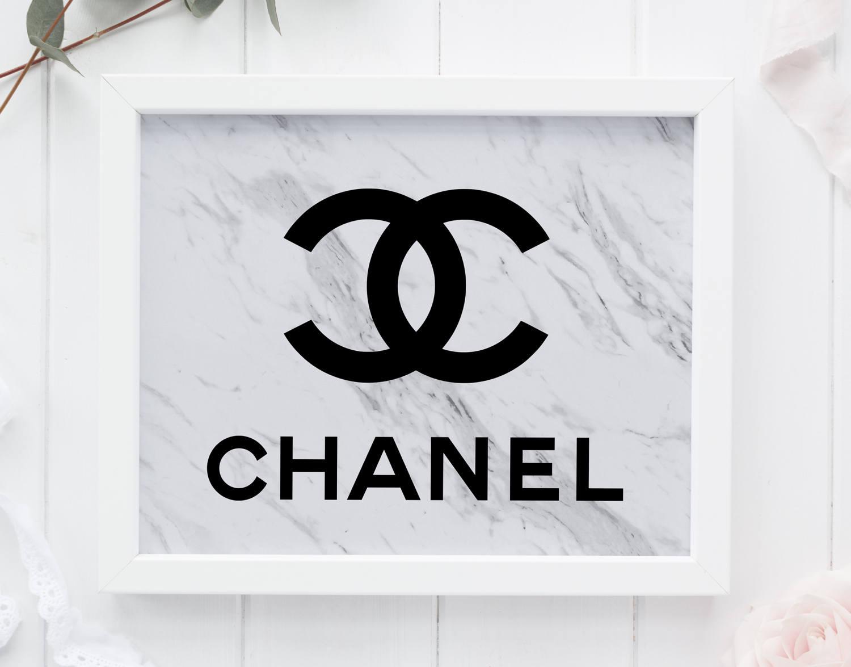 Drawn log Party Chanel Decor Coco Etsy