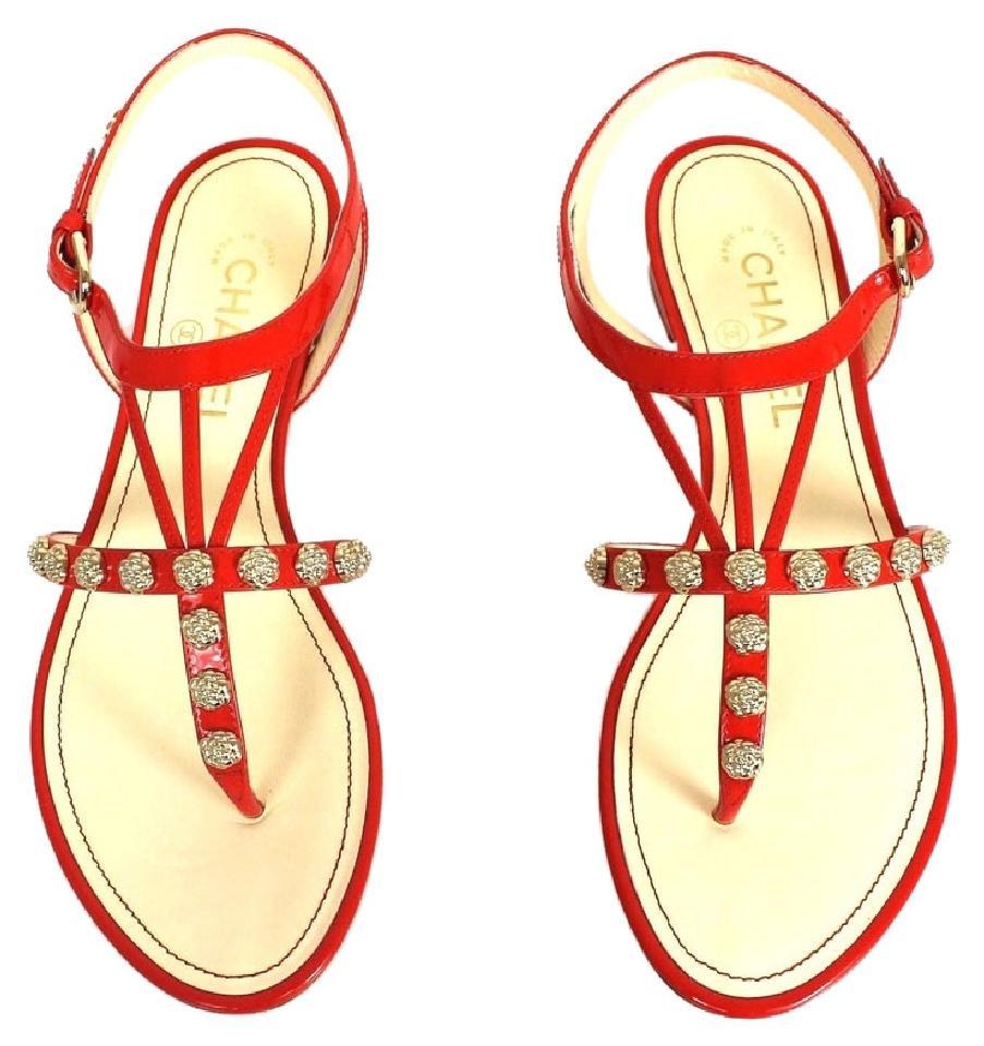 Chanel clipart camellia  Camellias Orange Patent Sandals