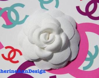 Chanel clipart camellia Authentic belt hat white Chanel