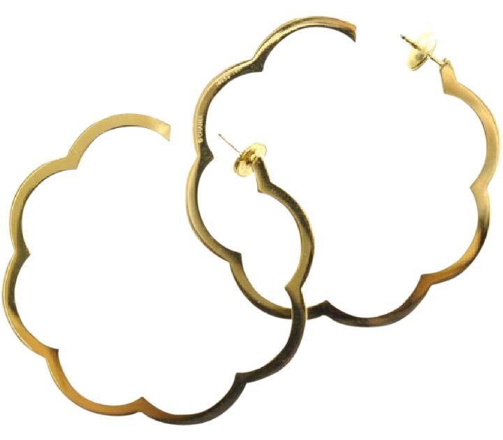 Chanel clipart camellia Chanel of Jumbo Hoop 18K