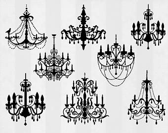 Chanel clipart chandelier Etsy clipart Digital files svg